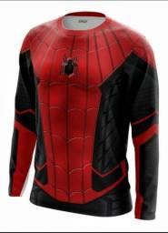 Camisas manga longa/curta Marvel Vingadores Dry fit