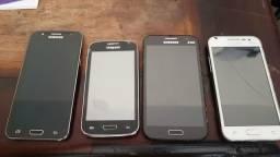 Troco 6 celulares (1 S5, tela quebrada) por 2 de 128mb