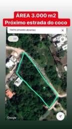 Área em Abrantes próximo a Estrada do coco analiso permuta