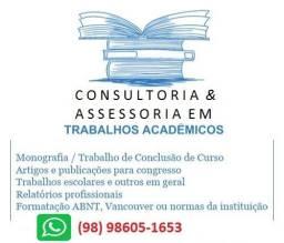 Consultoria e Assessoria em Trabalhos Acadêmicos (Monografias, Tcc, Artigos)