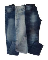3 calça masculina skinny jeans com 2% de elastano