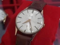 Relógio suíço original Sigma 17 Rubis corda ouro Plaquet anos 40