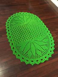 Tapete de crochê verde