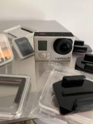 GoPro Hero 3+ + Capa de mergulho + Cartão de memória 64Gb + diversos acessórios