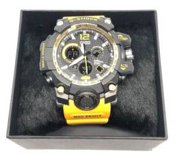 Relógio Casio G-Shock GPW-1000 Pulseira Amarela e Caixa Preta Garantia Produto Novo