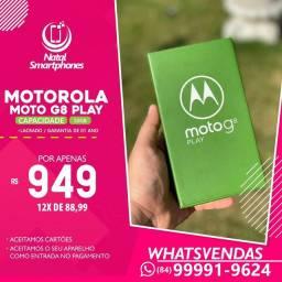 Motorola Moto G8 PLAY (PRETO), 32GB DUAL CHIP LACRADO+NF+1 ANO GARANTIA