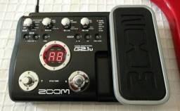 Pedaleira zoom g2 1u com pedal de expressãoao