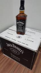 Jack Daniel?s 1 litro - ORIGINAL - Caixa 12 unidades