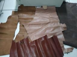 Retalho de couro legítimo tamanhos grandes