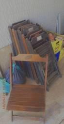 Vendo cadeiras de madeira da schin