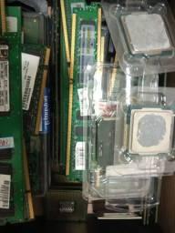 Processadores, memórias, hds
