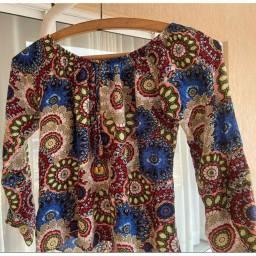 Blusa feminina ciganinha Estampada