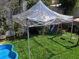 Tenda Sanfonada Cristal (Transparente) Usada - Tamanhos 3x3, 4.5x3 e 6x3.