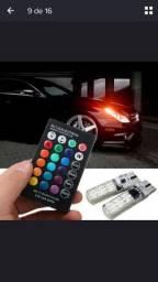 Luz de led RGB 16 cores com controle