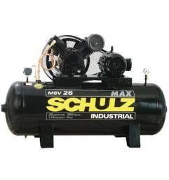 Compressor schulz msv 26 max 250 litros 175 libras 6 cv trifásico