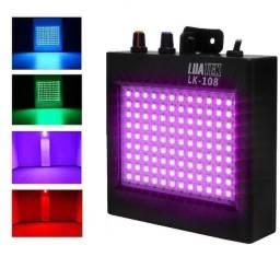 Strobo Led Rgb Dj Iluminação Colorida 108 Led com Sensor rítmico