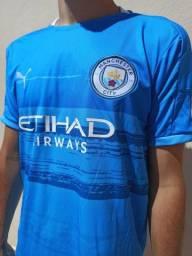 Camisa do City 2021 Lançamento Camisa de Time
