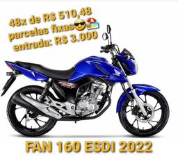 Título do anúncio: Fan 160 2022 - financiamento Honda