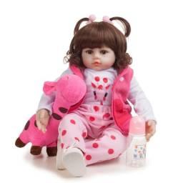 Bebe boneca reborn corpo de pano menina