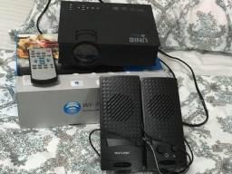 Projetor unic + suporte teto + caixa de som