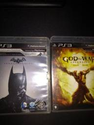 Jogos de PS3, God of war ascension e Batman Arkham origins