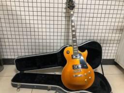Guitarra Elétrica Golden Series Les Paul + Case Les Paul Premium (perfeito estado)