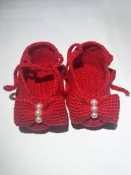 Sapatinhos em lã para bebê
