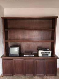 Estante, TV, DVD e impressora HP