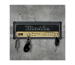 PORTA CHAVES DECORATIVO MDF MUSICA ROCK AMPLIFICADOR_c342