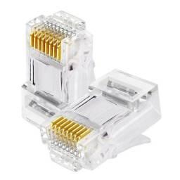 Conector Rj45 melhor banho de ouro do mercado 100un