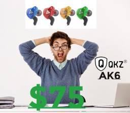 Fones de Ouvido  Qkz Ak6 Original