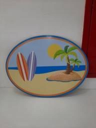 Placa MDF praia Tropical- desapego