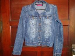 Jaqueta jeans tamanho 16 menina
