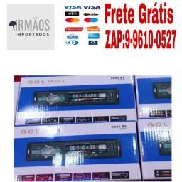 Som de Carro Player Automotivo Rádio FM USB SD Entrada Auxiliar BLUETOOTH.