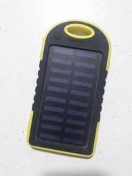 Carregador solar portátil com cabo usb