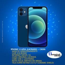 IPhone 12 64GB - Lacrado - 1 Ano de Garantia - Melhor Celular do Ano