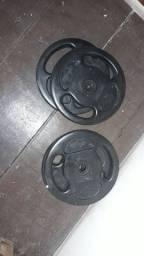 Anilhas injetadas de 20kg profissional