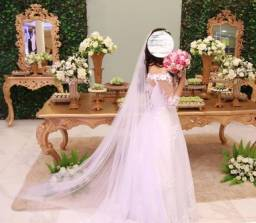 Vestido de noiva + Almofada para alianças