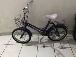 Bicicleta Monark  roxa infantil