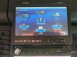 Dvd retrátil TV, USB, bluetooth.novo.