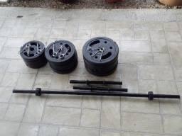 Kit de musculação com 40kg