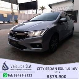 City Sedã EXL 1.5 16V 2019 Completo