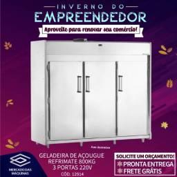 Título do anúncio: Geladeira de açougue Refrimate 800kg 3 portas Nova Frete Grátis