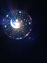 Luminaria Abajur Rotativa Projetor Globo Estrela Criança Festa