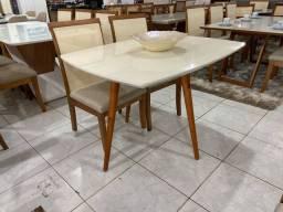 Mesa renovare telinha e madeira