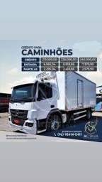 Crédito para aquisição de caminhões pequenos, grandes entre outros