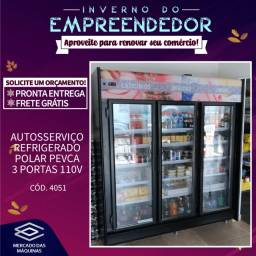 Título do anúncio: Autosserviço refrigerado Polar Pevca 3 portas Novo Frete Grátis