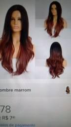 Estou vendo duas, peruca lace wig orgânica