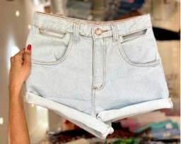 jeans no atacado Shorts feminino