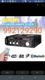 Amplificador bluetooth 600 watt